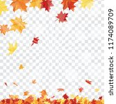 autumn  frame with falling ... | Shutterstock .eps vector #1174089709