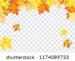 autumn  frame with falling ... | Shutterstock .eps vector #1174089733