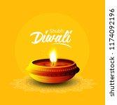 creative design for diwali... | Shutterstock .eps vector #1174092196