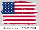 vector old usa flag.vintage... | Shutterstock .eps vector #1174095973