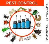 set of garden sprayers and... | Shutterstock .eps vector #1174098346