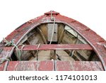 wooden fishing boat isolated on ... | Shutterstock . vector #1174101013