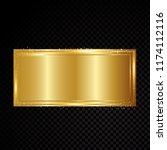 vector gold rectangle frame...   Shutterstock .eps vector #1174112116