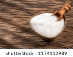white granulated sugar and... | Shutterstock . vector #1174112989