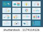 abstract digital marketing... | Shutterstock .eps vector #1174114126