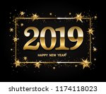 happy new year design layout on ... | Shutterstock .eps vector #1174118023