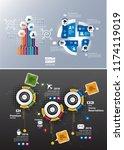 design colorful presentation... | Shutterstock .eps vector #1174119019