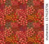 creative artistic floral... | Shutterstock . vector #1174125736
