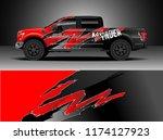 truck decal wrap design vector. ... | Shutterstock .eps vector #1174127923