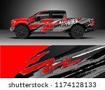 truck decal wrap design vector. ... | Shutterstock .eps vector #1174128133
