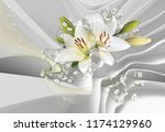 3d wallpaper for room white...   Shutterstock . vector #1174129960