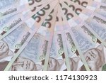 close up of fan shaped five... | Shutterstock . vector #1174130923