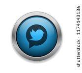 tweet   app icon | Shutterstock .eps vector #1174143136