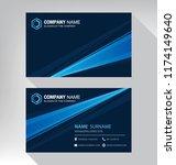 business model name card luxury ... | Shutterstock .eps vector #1174149640