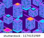 skyscrapers seamless pattern....   Shutterstock .eps vector #1174151989