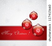 christmas background with... | Shutterstock .eps vector #117415660