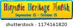 hispanic heritage month banner | Shutterstock .eps vector #1174161820
