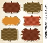 textured labels and stickers... | Shutterstock .eps vector #117416224
