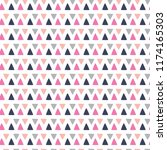 colorful repeating triangle... | Shutterstock .eps vector #1174165303