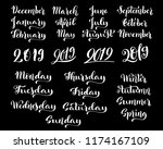 big set of months of the year... | Shutterstock .eps vector #1174167109
