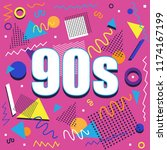 party time the 60s style label. ... | Shutterstock .eps vector #1174167199