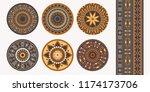 set of african decorative... | Shutterstock .eps vector #1174173706