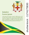 flag of jamaica  commonwealth... | Shutterstock .eps vector #1174175830