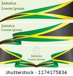 flag of jamaica  commonwealth... | Shutterstock .eps vector #1174175836