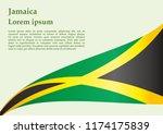 flag of jamaica  commonwealth... | Shutterstock .eps vector #1174175839
