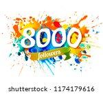 eight thousand followers....   Shutterstock .eps vector #1174179616