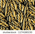 seamless pattern with leaves | Shutterstock .eps vector #1174180150