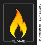 flammable symbol. icon with... | Shutterstock . vector #1174181059