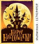vector halloween illustration... | Shutterstock .eps vector #1174194919