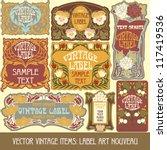 vector vintage items  label art ... | Shutterstock .eps vector #117419536