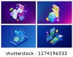 isometric vector online... | Shutterstock .eps vector #1174196533