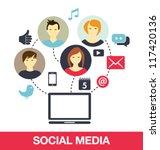 social media concept | Shutterstock .eps vector #117420136
