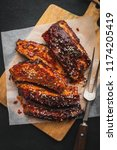 delicious grilled bbq ribs on... | Shutterstock . vector #1174205419