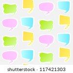 seamless pattern with speech... | Shutterstock .eps vector #117421303