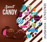 sweet candy concept | Shutterstock .eps vector #1174217830