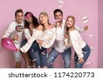 group of beautiful young people ... | Shutterstock . vector #1174220773