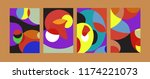 vector abstract colorful...   Shutterstock .eps vector #1174221073
