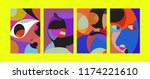 vector abstract colorful...   Shutterstock .eps vector #1174221610