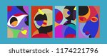 vector abstract colorful...   Shutterstock .eps vector #1174221796