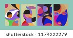 vector abstract colorful...   Shutterstock .eps vector #1174222279