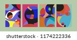 vector abstract colorful...   Shutterstock .eps vector #1174222336