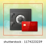 credit card   electronic lock... | Shutterstock . vector #1174223239