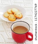 cup off coffee and cookies | Shutterstock . vector #1174227769