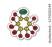 glucose formula sticker doodle... | Shutterstock .eps vector #1174232149