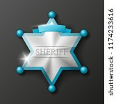 wild west sheriff metal gold...   Shutterstock .eps vector #1174233616