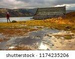 Scotland Landscape. A Boathous...